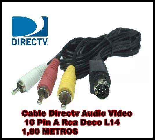 Cable Svideo 10pin A 3 Rca L14 Directv 1.5m