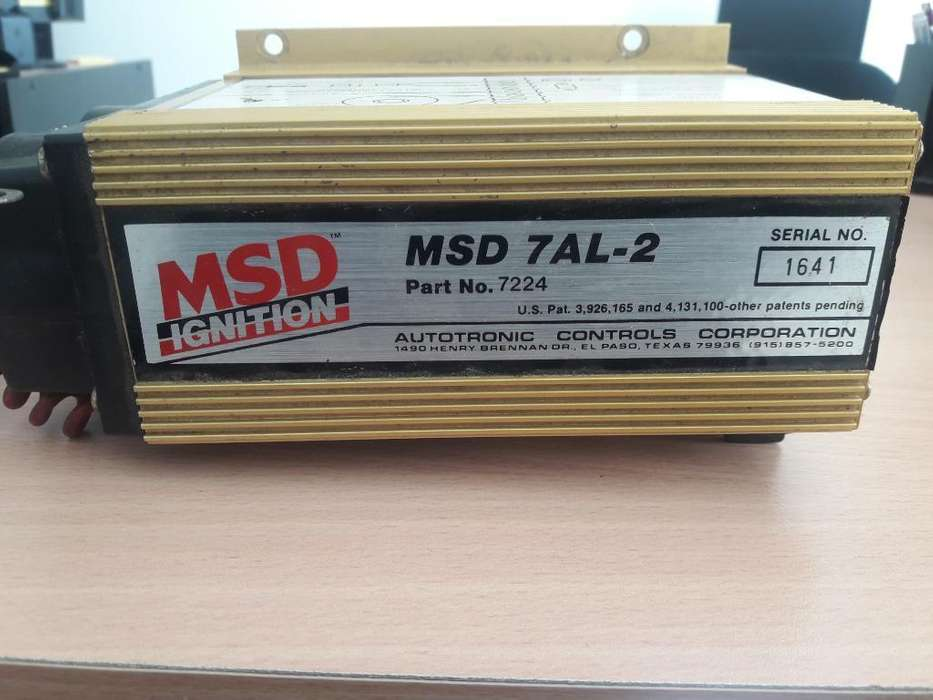 Sistema de <strong>encendido</strong> Ignition Msd 7 Al 2