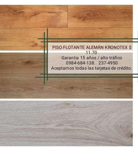 PISO FLOTANTE KRONOTEX ALEMAN