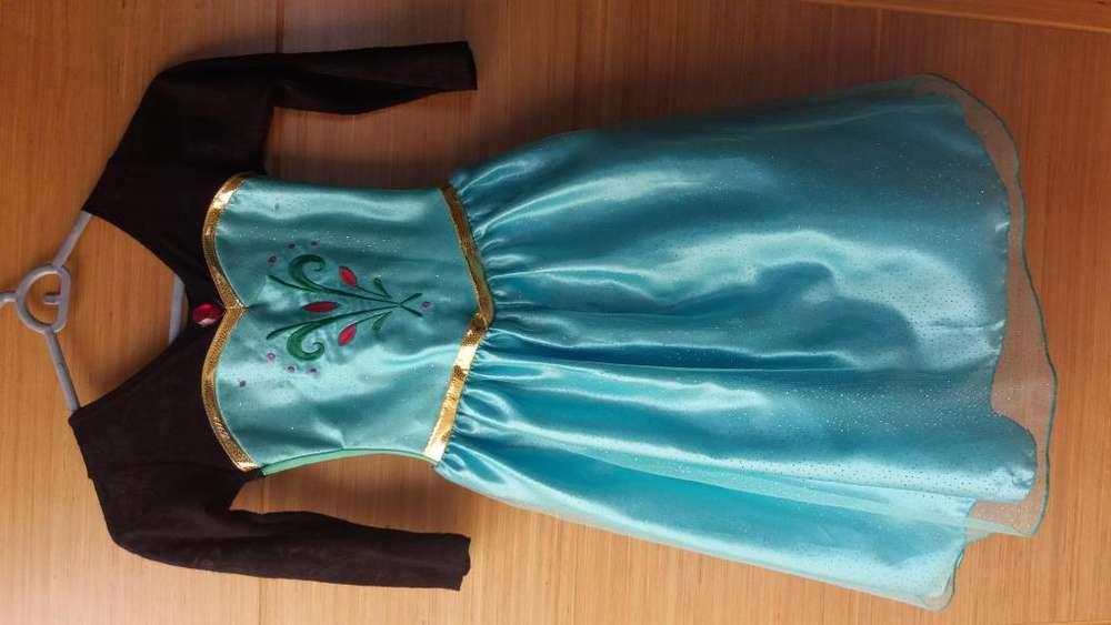 Vestido Elsa Frozen talla 8