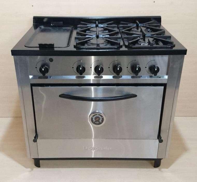 Cocina Industrial Acero 4 Hornallas Plancha 90cm Depaolo super oferta !! ULTIMAS!! NUEVAS!!