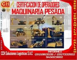 FORMACION DE OPERADORES DE MAQUINARIA PESADA....CERTIFICACION HOMOLOGACION