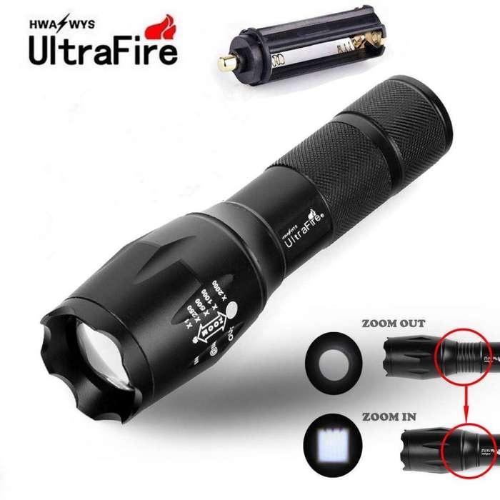 T6 LED Linterna Antorcha Táctica Militar 50000 lm ampliable 5-Modo para 18650-