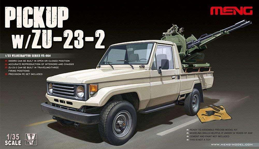Meng Toyota pickup con Antiaereo Zu232 escala 1/35