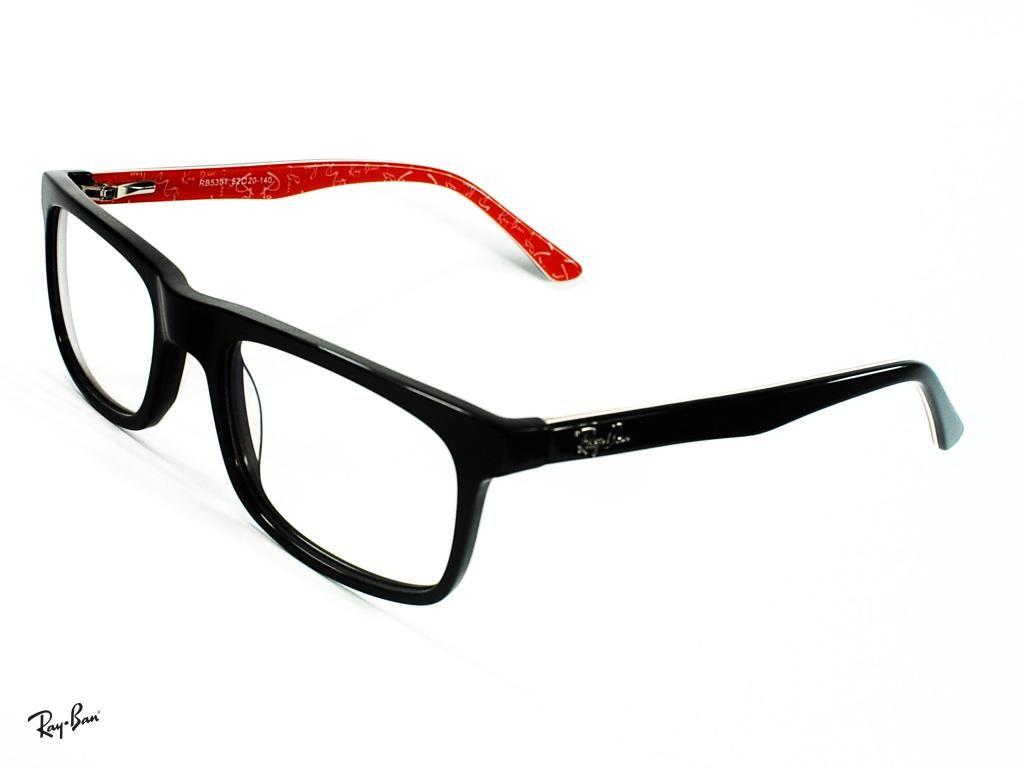 9c0379250 Montura Óptica Ray-Ban RB5301 5220mm Red Black Opt0035 Gafas Italy ...
