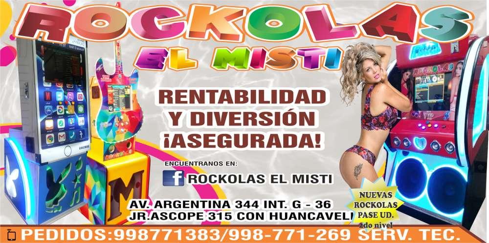 Rockolas El Misti De Pared Y De Piso en Lima/arequipa