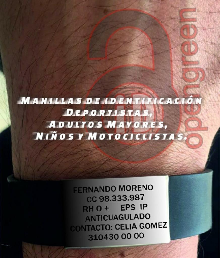 51430e750f4d Manilla Pulsera Identificacion - Medellín