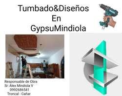 Tumbados &diseños en Gypsum 0992686541