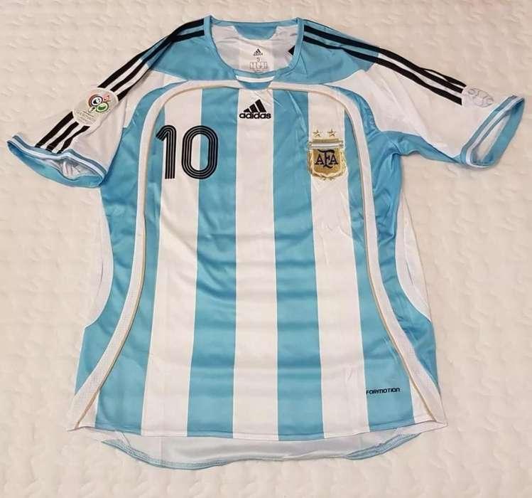 Camiseta seleccion Argentina titular Mundial 2006 Juan Roman Riquelme