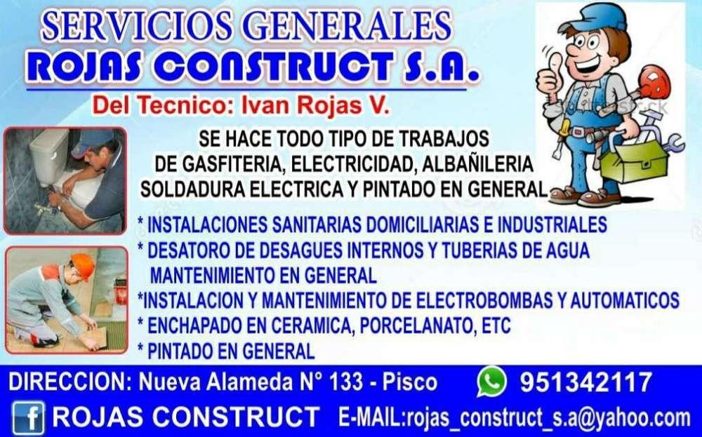 Servicio de Gasfitería en Pisco.