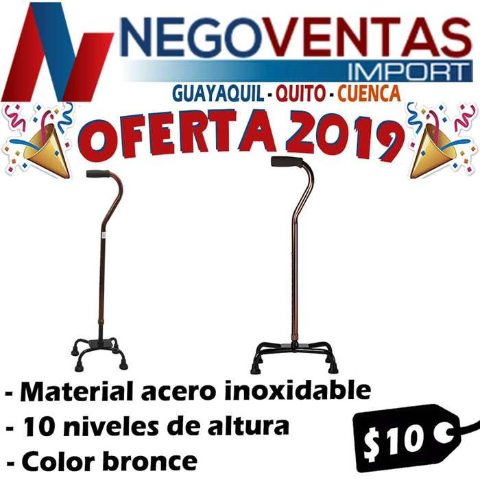 BASTON DE ACERO INOXIDABLE PARA ADULTO DE OFERTA