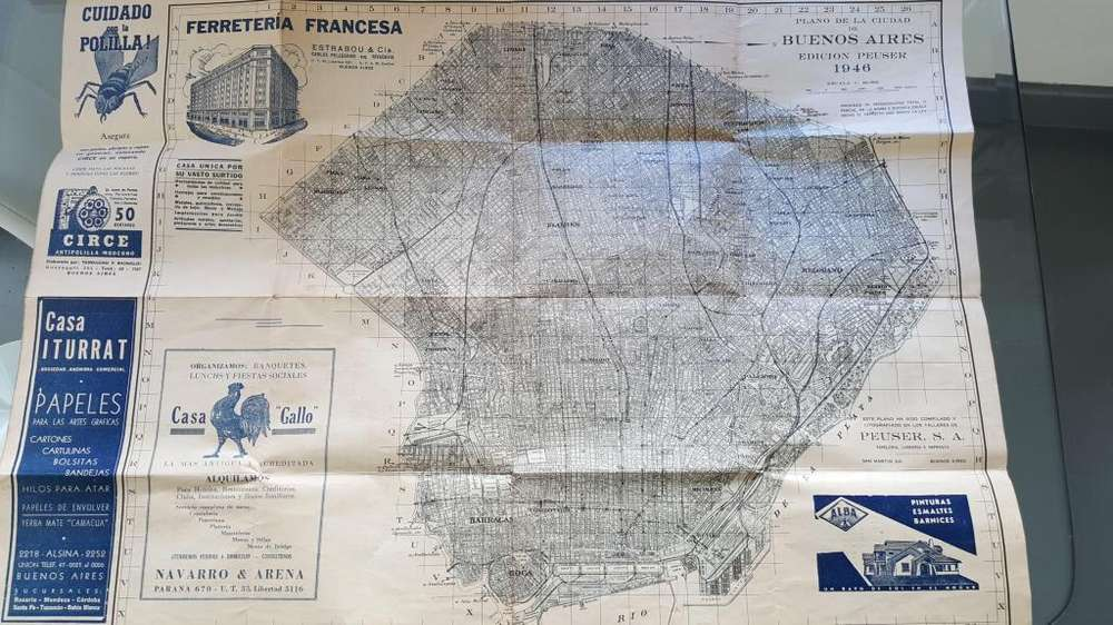 Mapa Antiguo de Bs As 1946