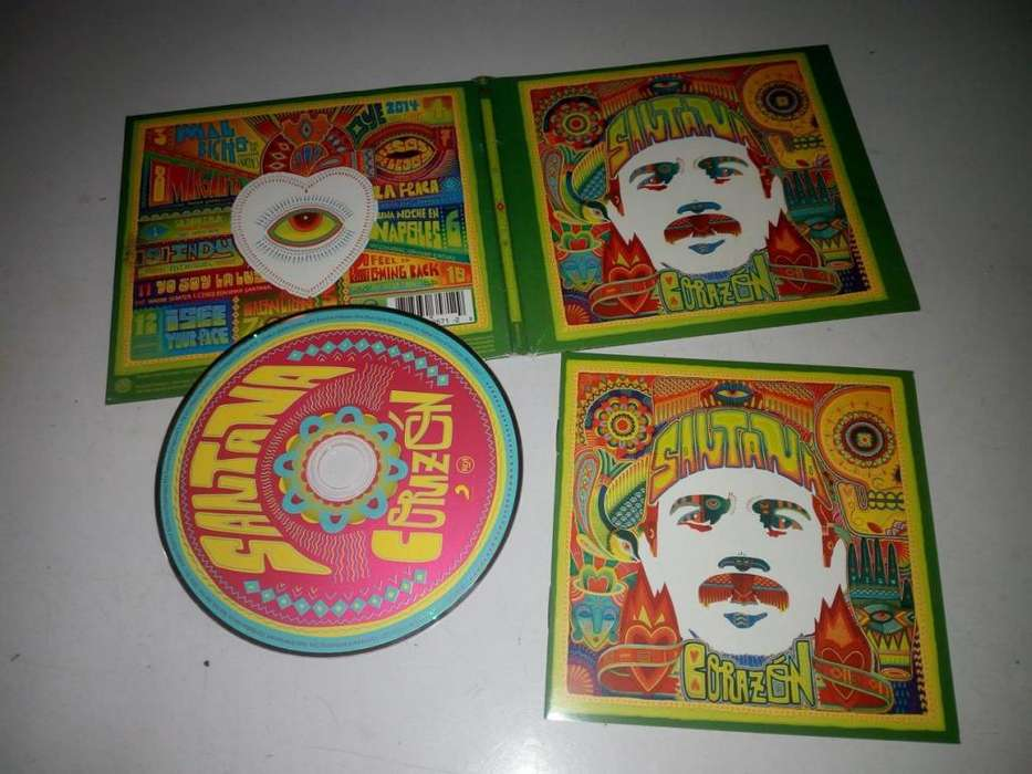 Vendo o cambio, disco original , CD, Corazon, del guitarrista Santana, en perfecto estado Q.100