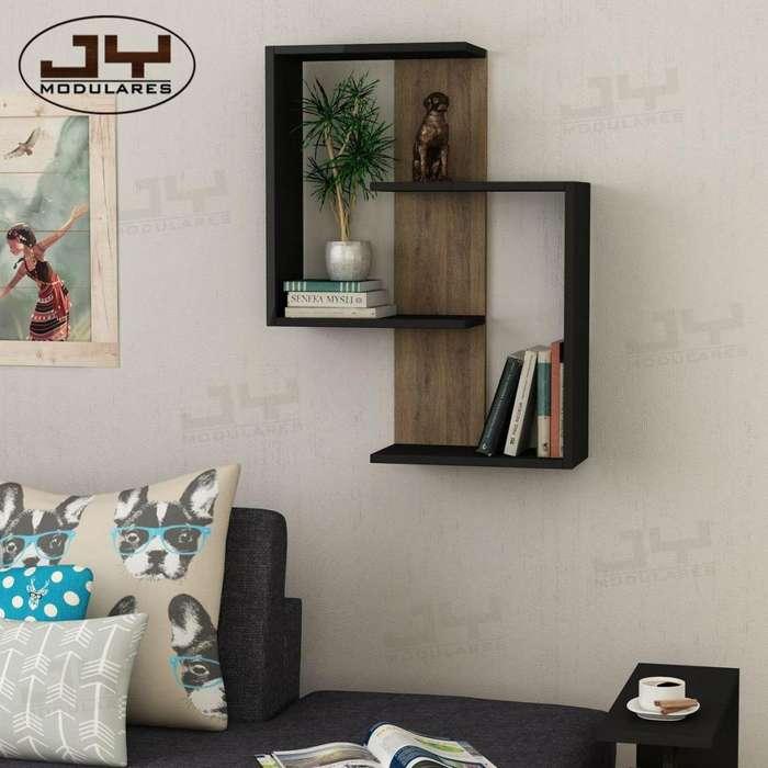Repisa doble C estante librero modular moderno minimalista en stock