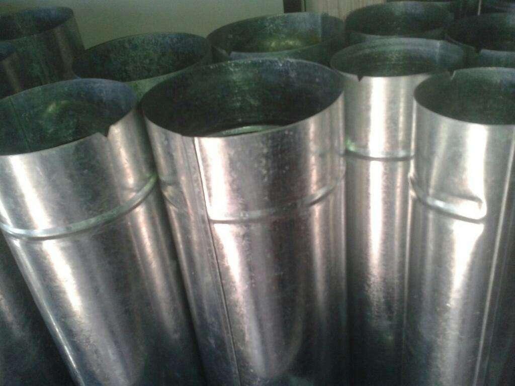 Ocho caños para estufa ecologica 8 zinc