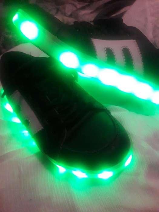 Zapatillas con Luces N 32 de Varon
