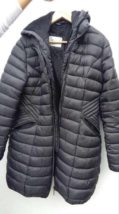 Abrigo de invierno mujer termico casaca negra
