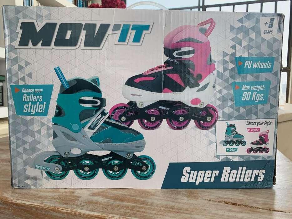 Patines en linea MOV'IT Super Rollers para niños y niñas