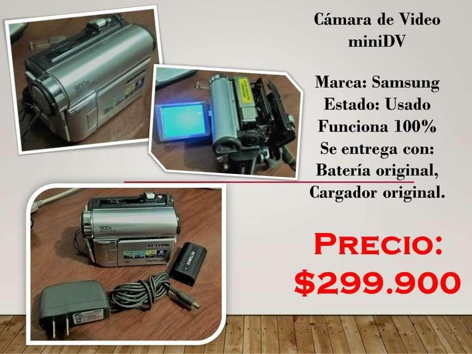 Camara Video Samsung Mini Dv Funciona 100% <strong>accesorios</strong>