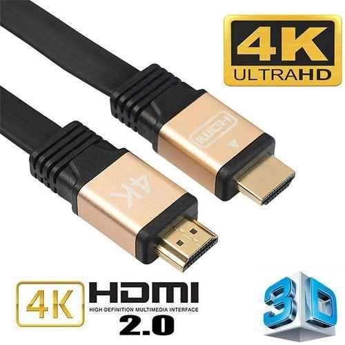 CABLE HDMI 2.0 4K 3D ULTRA HD de 2 METROS. ALTA VELOCIDAD ENMALLADO, EXCELENTE CALIDAD.