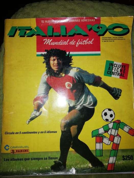 Álbum Panini Del Mundial de 1990 Lleno
