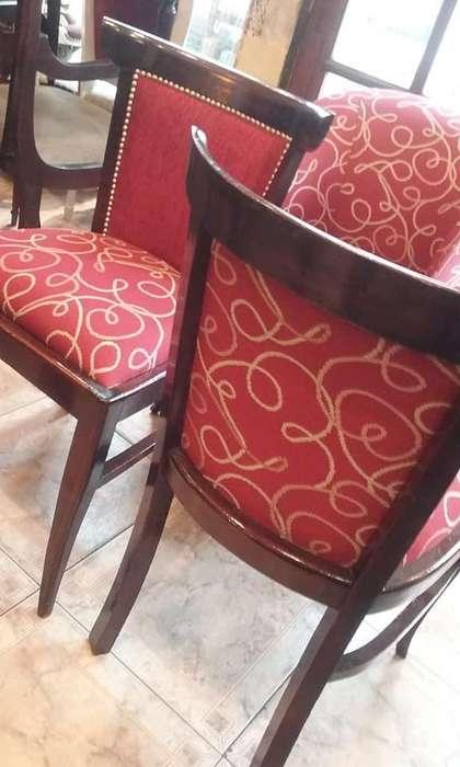 juego de 6 sillas de elegante diseño
