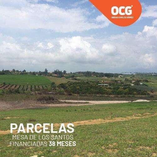 LANZAMIENTO PARCELAS EN LA MESA DE LOS SANTOS A 7 MINUTOS DEL MERCADO CAMPESINO