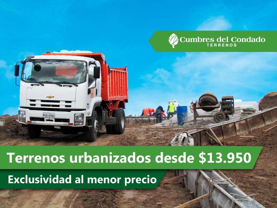Terreno en el Norte de Quito Sector El Condado obras completas