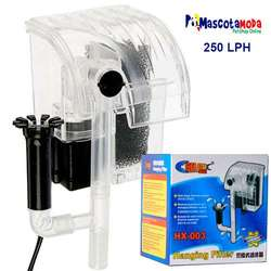 Filtros de cascada de 250 y 500lph para peceras y acurios filtración total