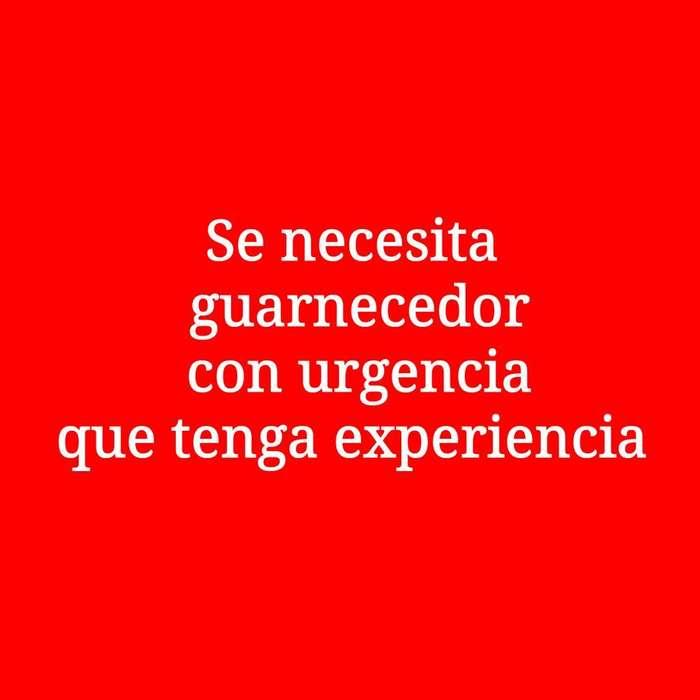 Se Necesita con Urgencia Guarnecedor