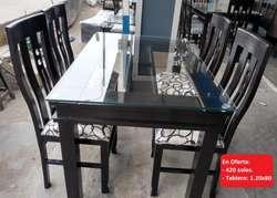 Juegos de Comedor Nuevos de 4 sillas desde 380 soles