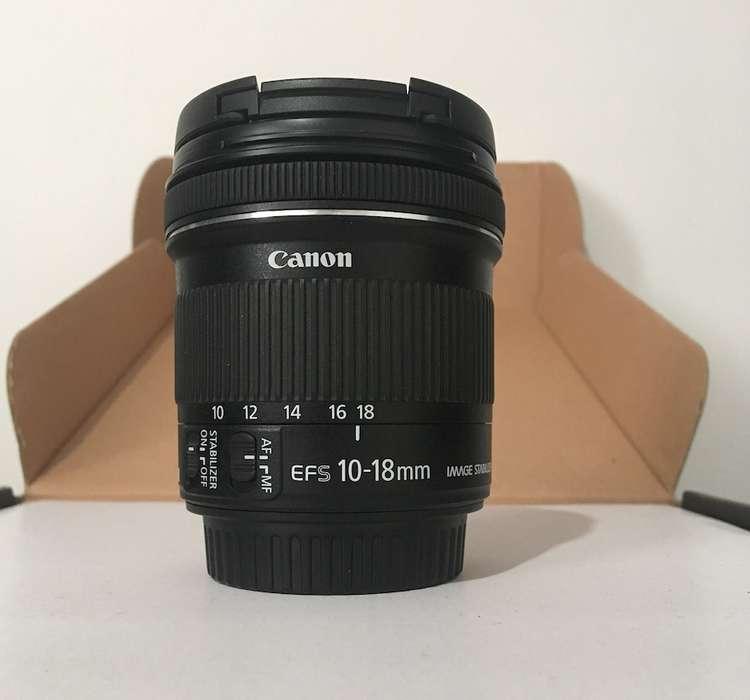 Lente Canon EFS 10-18mm f/4.5-5.6 IS STM
