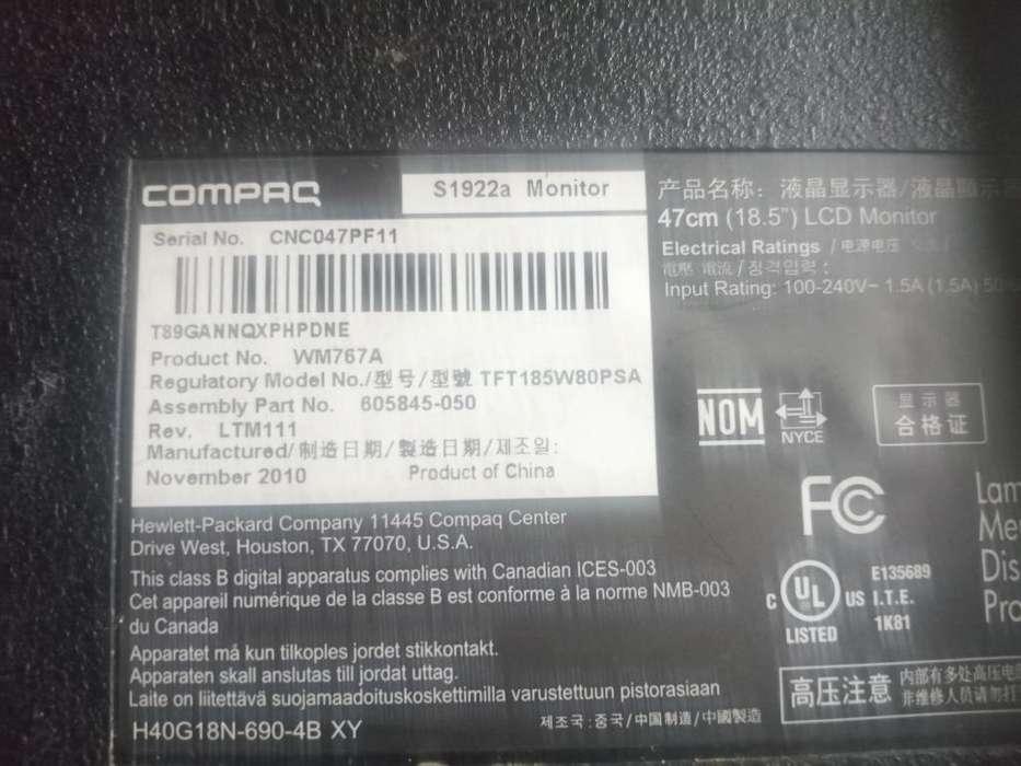 Vendo Monitor Compaq 18.5''