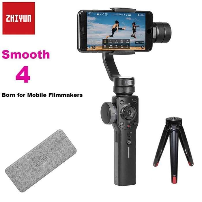 Estabilizador Para Celular 3 ejes Zhiyun Smooth4 Con Tripode