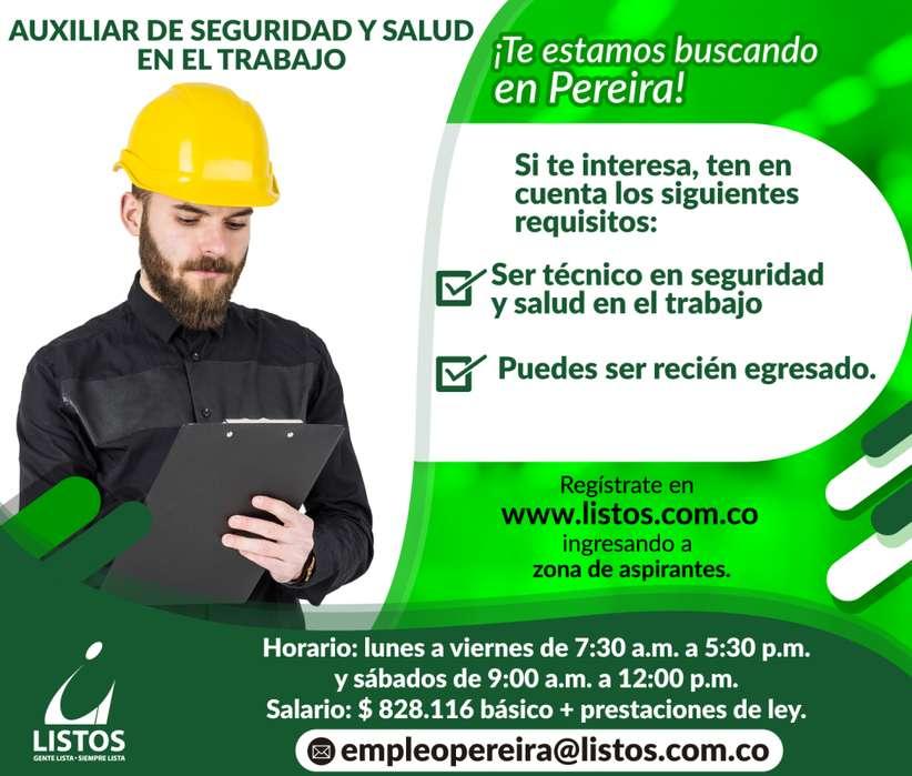 <strong>auxiliar</strong> de seguridad y salud en el trabajo Pereira!!