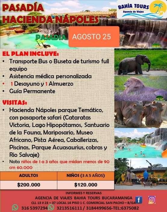 Pasadia Hacienda Napoles 25 Agosto