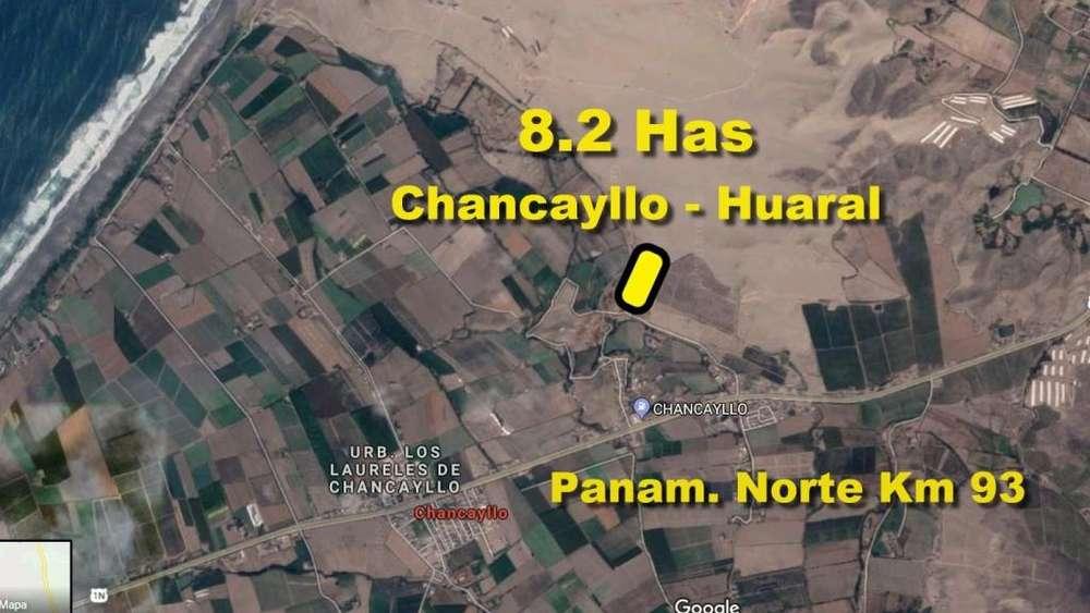 Vendo Terreno de 82,000 m2 en Chancayllo en Huaral