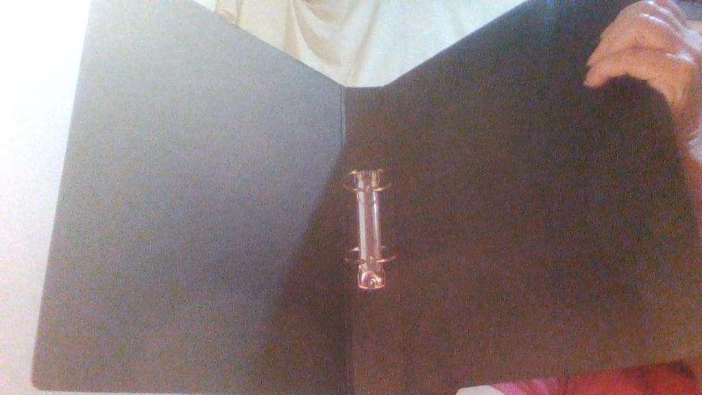 Carpeta oficio 2 anillos fibra negra