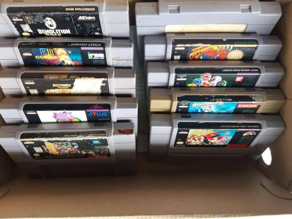Cartuchos Originales Super Nintendo Snes