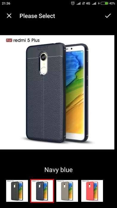 Carcasa Case Xiaomi Redmi S2 Nuevo Azul