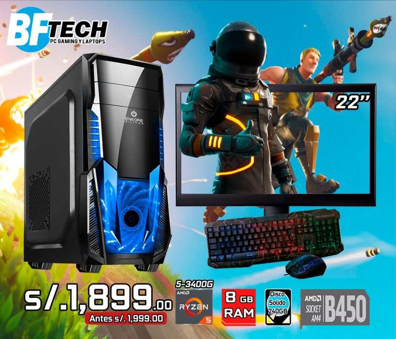 PC GAMING RYZEN 5 3400G 3.7GHz 18