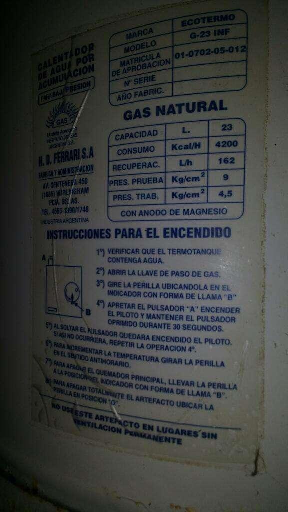 Termotanque Gas 23 Lts Funcionando
