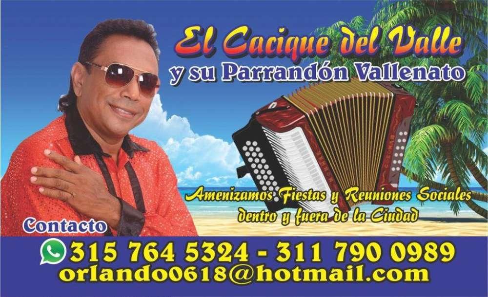 El parrandon Vallenato Cali El Cacique Del Valle: 3157645324
