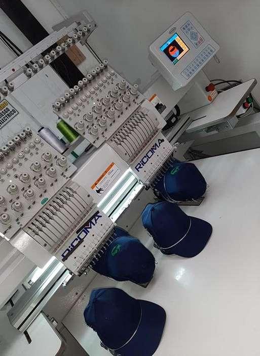 Maquina Bordadora de 2 cabezotes a la venta modelo 2014 en excelente estado.
