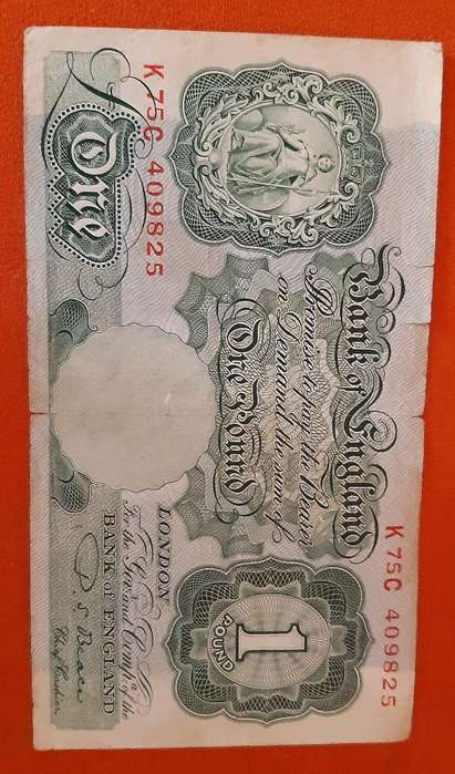 Billete Antiguo de Inglaterra