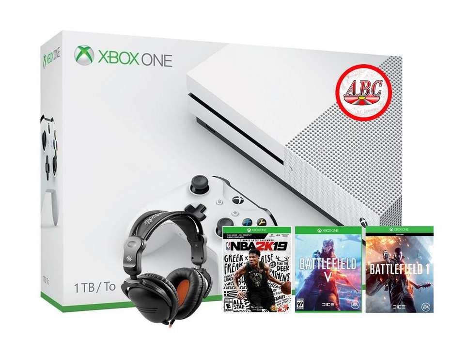 Xbox One S 1tb Battlefield V Nba2k19 Battle 1 Diadem Gamer