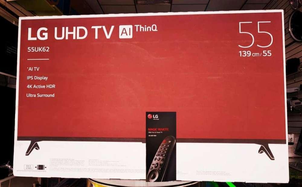 LG UHD 4K 55 PULGADAS CONTROL MAGIC SOPORTE DE PARED DE OBSEQUIO