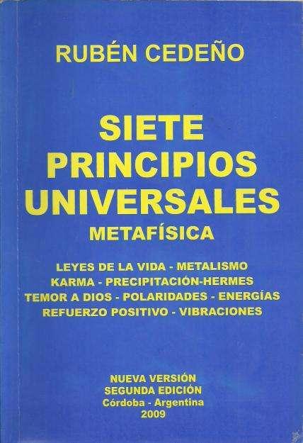 Siete Principios Universales de Rubén Cedeño. Libro Usado.