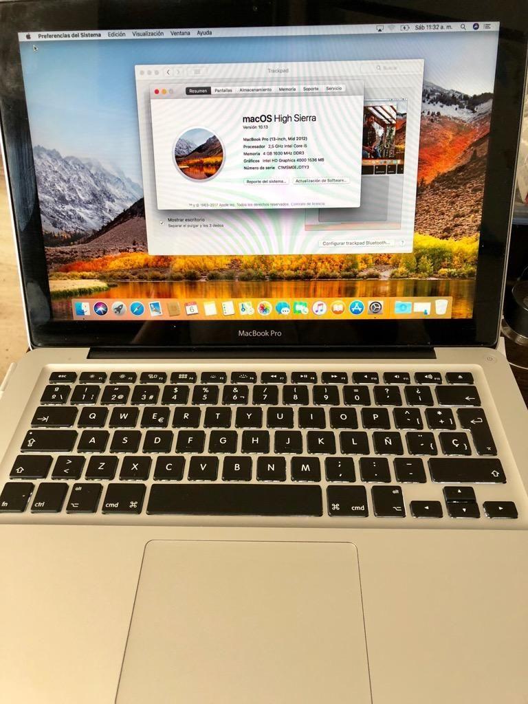 Macbook Pro Core i5 2012 10 GB 256 Gb SSd 10/10 Excelente