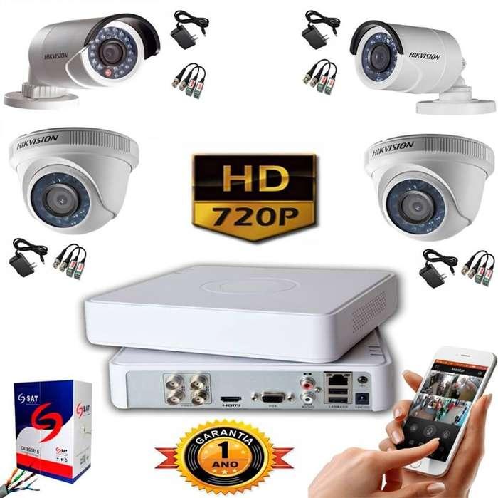 Kit Cámaras De Seguridad 720p Dvr 4 Ch 4cámaras
